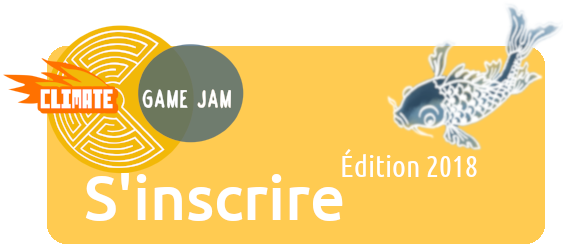 boutton vers la page d'inscription à la climate game jam 2018